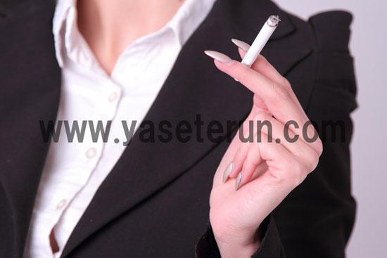 女性の喫煙率が年々増加の傾向にある